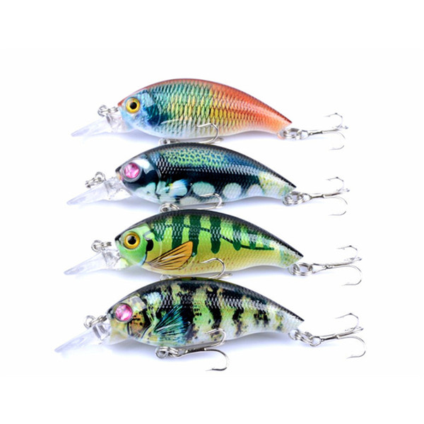 4PCS/lot 7.5 cm 8.4 g Fishing Lure Minnow Hard Bait with 4 Color Japan Crank Bait Fishing Tackle Lure 3D Eyes Free Shipping