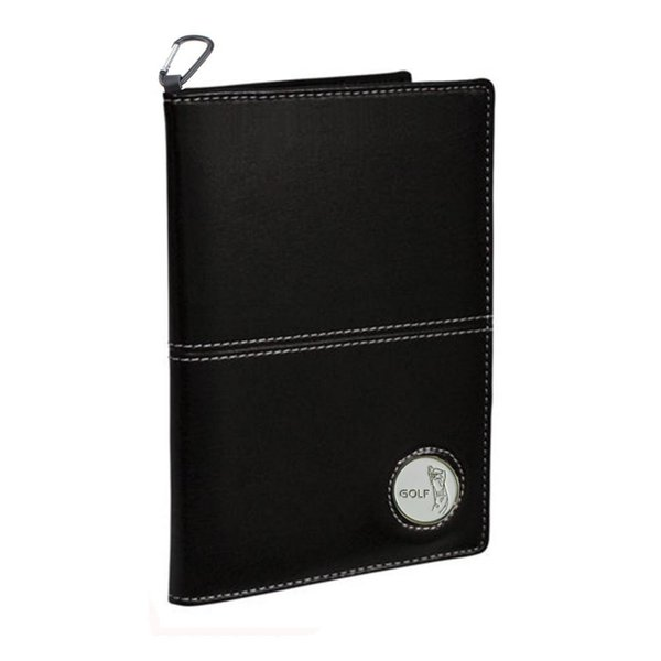 Kofull Golf Score Card Holder Deluxe PU Leather 11*16cm Holder Free Send a Ball Mark and Hook