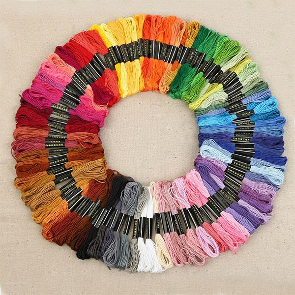 top popular 8.7 Yard Embroidery Thread Cross Stitch Thread Floss CXC Similar DMC 447 colors a Lots Free shipping 2021