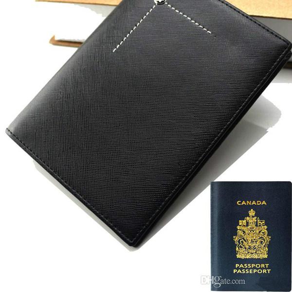 Luxury MB passport wallet hot genuine leather men short wallets MT card holder wallet high huality MB card holder wallet