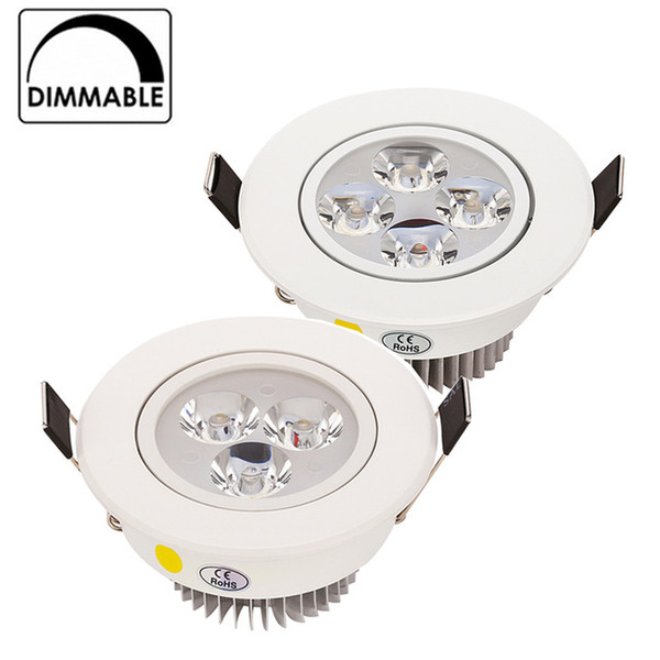 Hot Sale CREE 9W 12W 15W LED Downlight Dimmable Warm White Nature White Pure White Recessed LED Lamp Spot Light AC85-265V