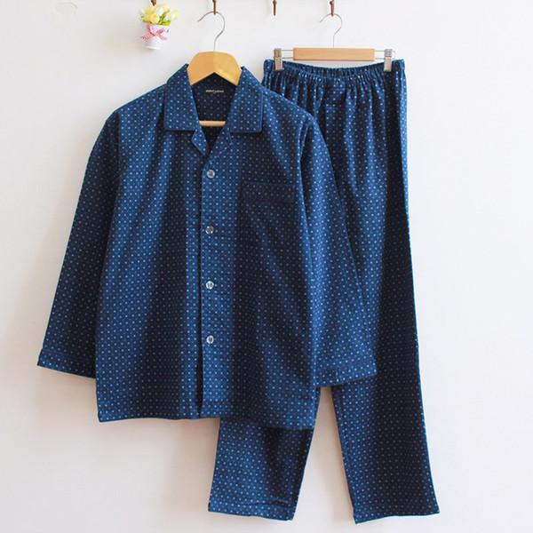 de pijamas algodón dormir manga de 100 larga ropa a hombre cuadros casual pijamas hombres vTS1wY