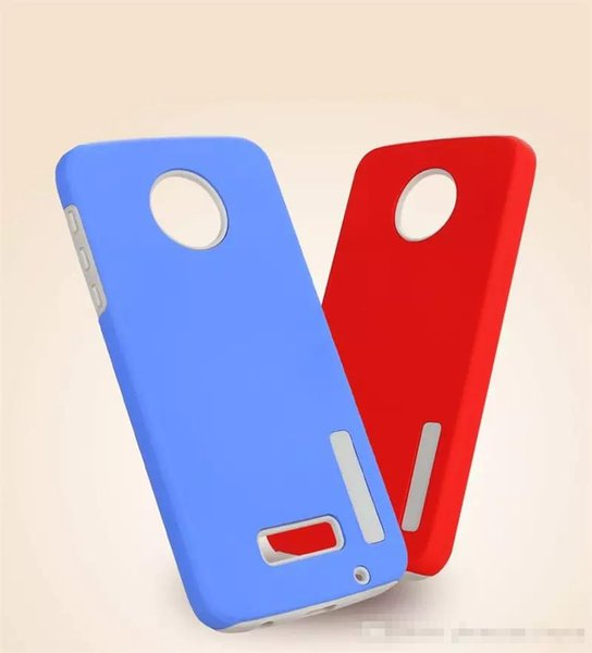 Dual Layer Rugged Armor Phone Cases For Motorola Moto E5 E5 Plus X4 Z2 Play G5S Plus New Hybrid PC Cover