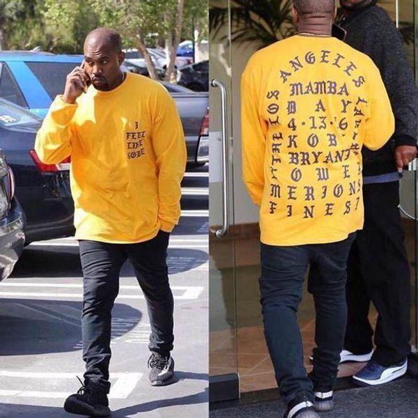 Camiseta I Feel Like Kobe Camiseta Hombre Kobe Retire Commemorative Mamba Camiseta Hip Hop Sport Tees Tops Kanye West