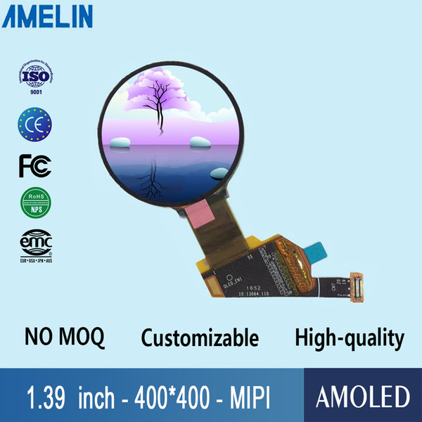 1.39 inch 400*400 round transparent OLED MIPI DSI interface lcd module display screen and full viewing angle amoled panel
