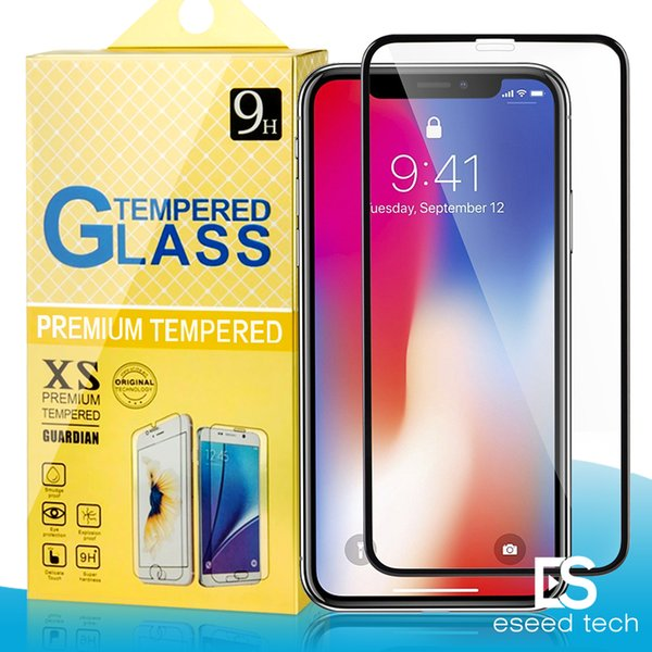 For Samsung J2 CORE Iphone X 8 8Plus 7 7Plus 6 6S 6Plus 6SPlus 5 Full Cover Flim 2.5D 9H Hardness Tempered Glass Screen Protector