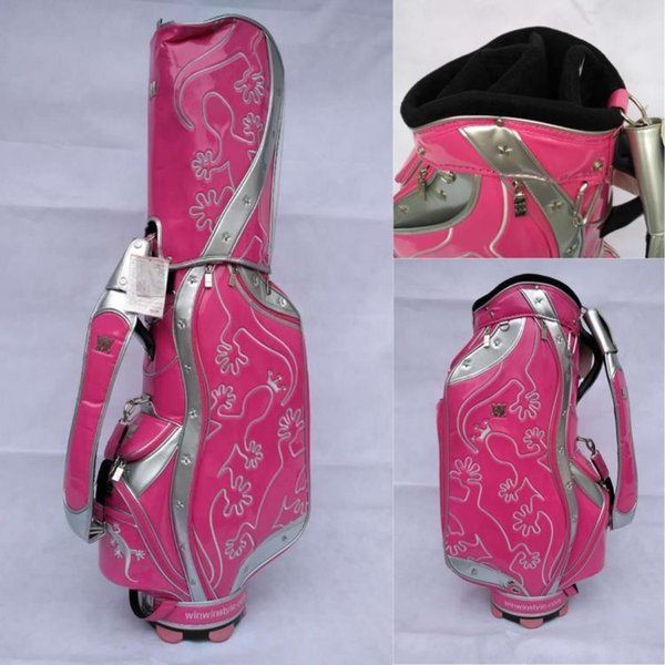 best selling free shipping clean up stock Lizards golf bag 2018 limited sale brand golf bag pu leather original golf ball bag women for club waterproof