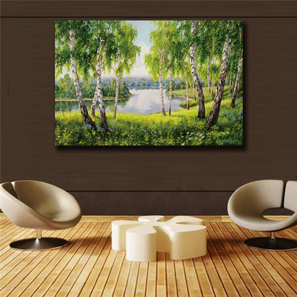 Impression green Scenery HD print on canvas huge wall picture paintings No Framed