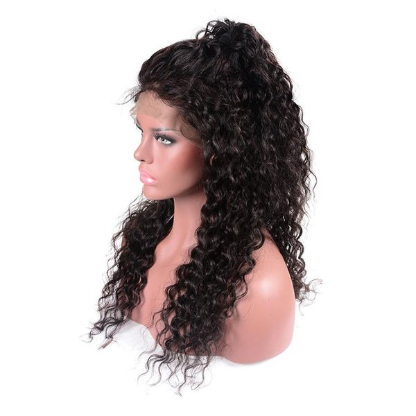 Peruvian Hair Wigs Remy Human Hair Full Lace Wigs Natural Color Gluless Lace Kinky Curly Wigs for Black Women 150%Density Free shipping