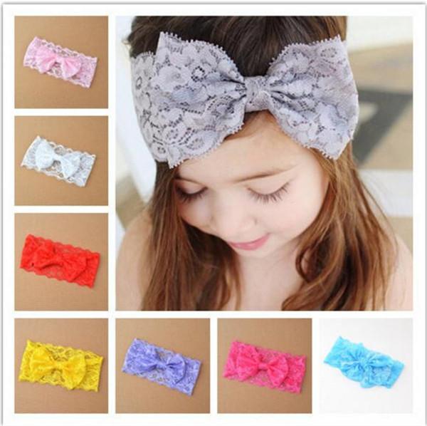 100 pcs Crianças Headbands Para Meninas Do Bebê Headbands Bow Lace Headband Acessórios Para o Cabelo Do Bebê Faixas de Cabelo Cabelo R077