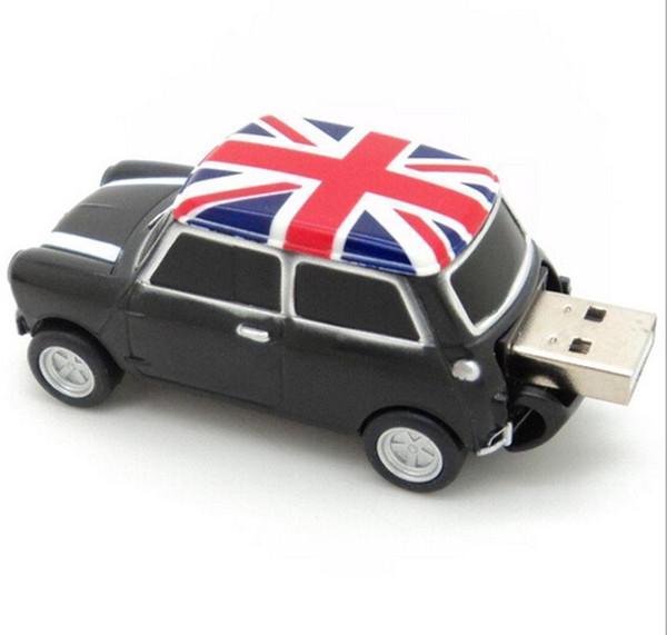 Three colours Cool England BMW Mini cooper car shape model USB 2.0 flash drive memory stick pendrive 16GB 100% Real Full