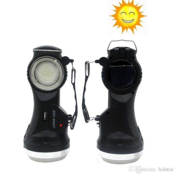 Solar Powered Rechargeable Flashlight Solar Portable Emergency Lantern Cover Table Lamp Camping Light Tent Lamps