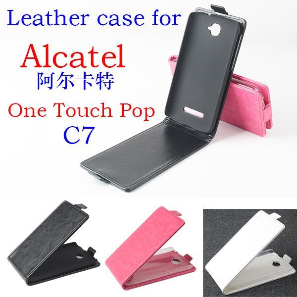 Etui en cuir Pour Alcatel One Touch POP C7 OT7041 7041D Couvercle rabattable Pour Alcatel OT 7041 D Housses et étuis pour téléphone Sacs Fundas