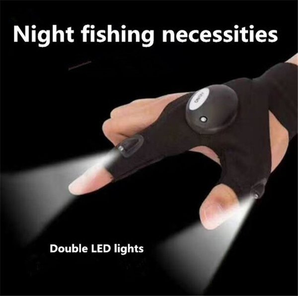 Newfangled LED flashlight glows fishing gloves breathable outdoor sports lighting gloves finger lamp suitable for outdoor sports at night