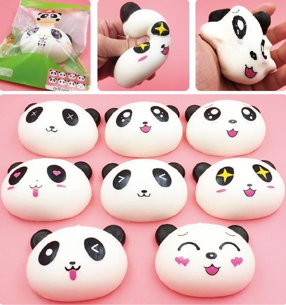 Acheter Gros 10cm Dessin Animé Mignon Dessin Animé Visage Panda Buns Panda Sac Clé Mobile Téléphone Bretelles Pendentif Chaîne Téléphone Portable A185