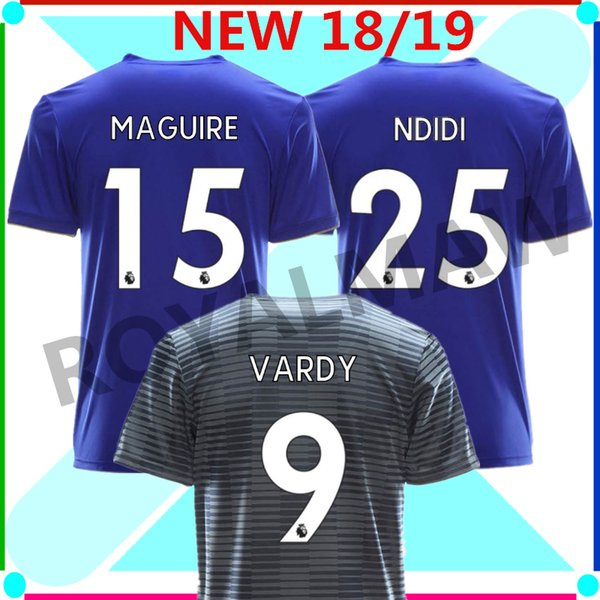 huge selection of 73b7a 7075d 2018 2019 Leicester City Shirt Epl Maguire Ndidi Maddison Shinji Okazaki  Gray Club Home Blue Away Grey Soccer Jersey Football T Shirt 18/19 New From  ...