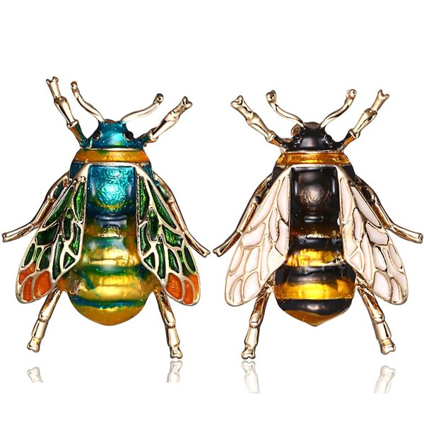 Insecto Bumble Bee Broche Para Mujeres Niños Niñas Regalos de Joyería de Color Oro Amarillo Verde Esmalte Broches Joyas Bumble Bee Insignias