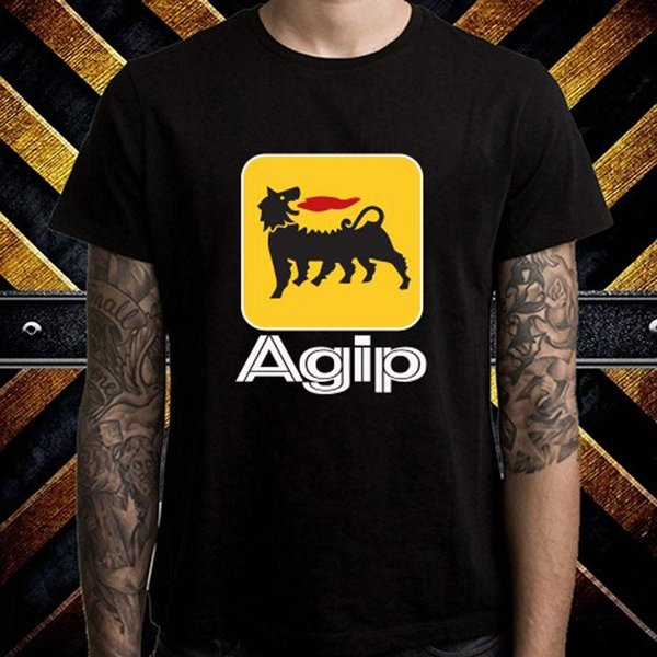 AGIP Black Short Sleeve T-shirt