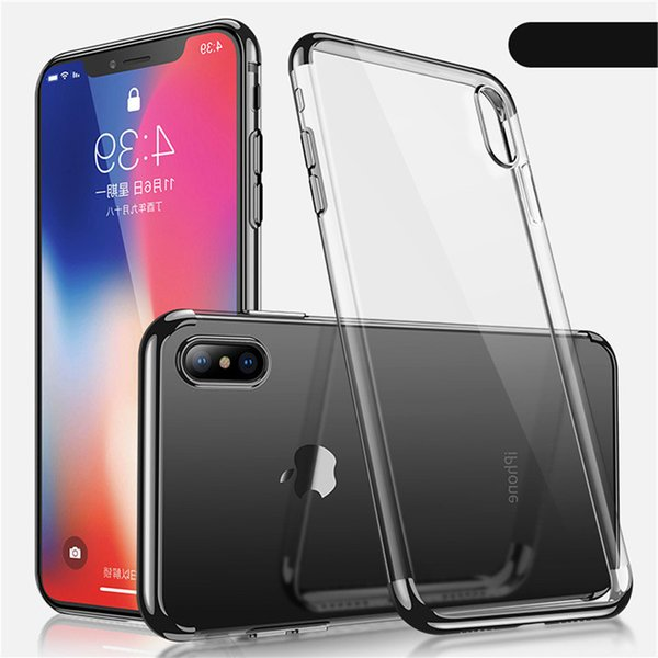 For Samsung S7 S7 Edge S8 S8Plus S9 S9Plus Ultra Thin Luxury Fashion Mobile Soft TPU Clear Plating Shining Phone Cover Case