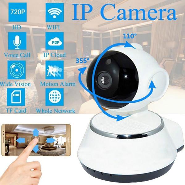 PC 720P IP Camera WiFi Smart Home sem fio Surveillance Camera Security Camera Micro SD de rede rotativo CCTV IOS