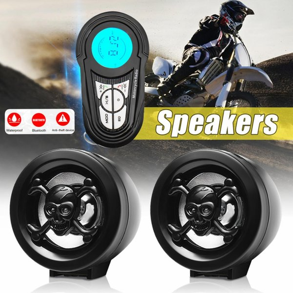 1Set Anti-theft Motorcycle Alarm Sound System Motor Car Audio MP3 USB Radio Stereo Speakers Music for Theft Protection