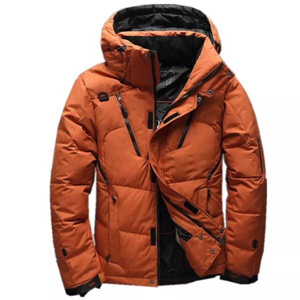 2018 Yüksek Kalite 90% Beyaz Ördek Kalın Aşağı Ceket erkek ceket Kar parkas erkek Sıcak Marka Giyim kış Aşağı Ceket giyim