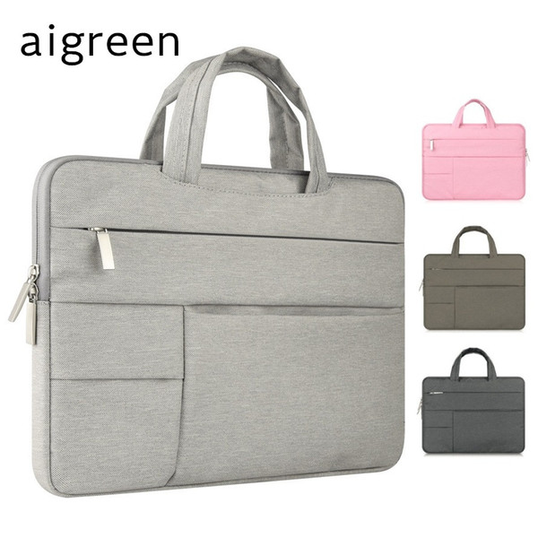 "2018 Hot Brand aigreen Handbag For Laptop Bag 11"",13"",14"",15"",15.6 inch, Case For Macbook Air Pro 13.3"",15.4"" Free Drop Shipping"