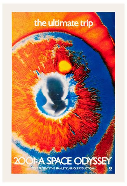 1960-е научно-фантастические * 2001 Космическая одиссея * редкий глаз плакат фильма 1968 искусство шелк печати плакат 24x36inch (60x90cm)001