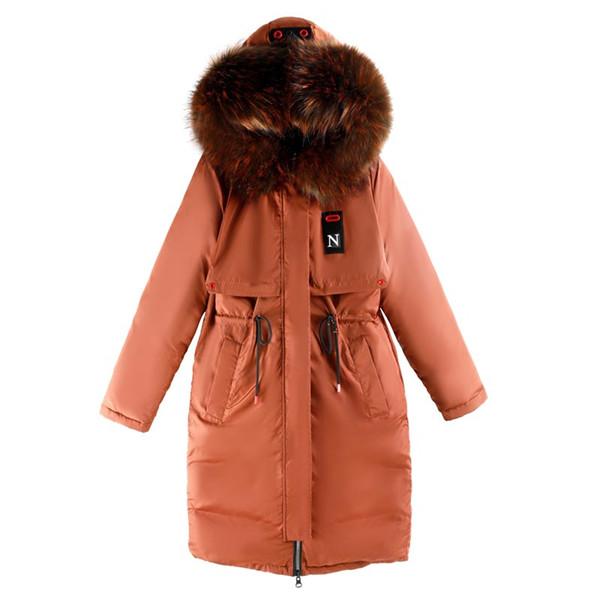 magasin en ligne a8573 ec0e8 Acheter Brieuces 2018 Fourrure À Capuche Femme Manteau D'hiver Manteau Pour  Femme Plus Size 3XL Rembourré Long Outwear Pour Femme Manteau D'hiver Pour  ...