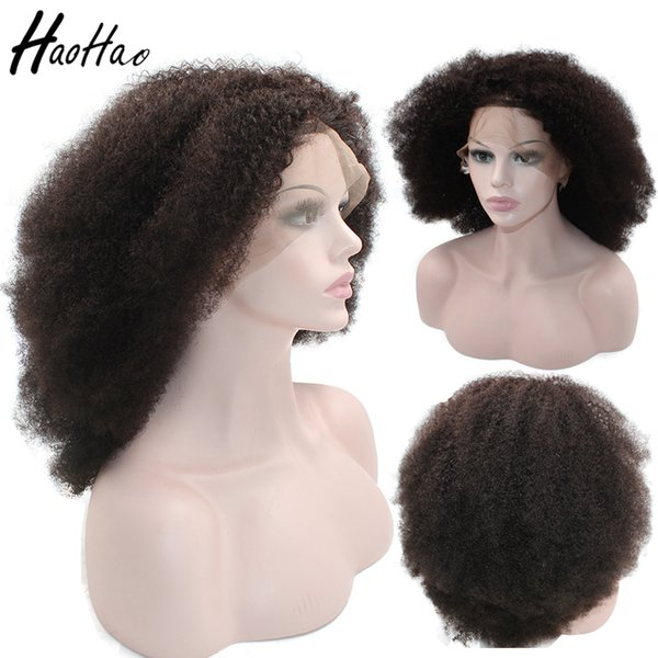 lace frontal Wig full lace wig brazilian Afro Curly 4c virgin human hair wigs for African black women Free Shipping