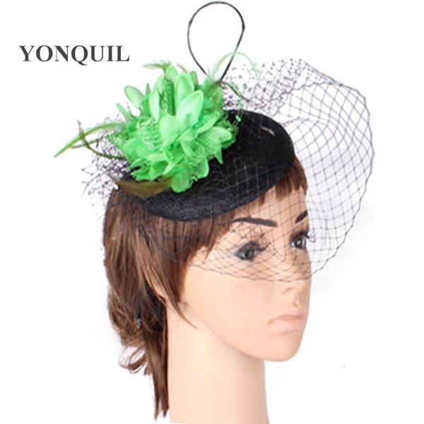 Fashion new style party headwear silk flower with fascinator base wedding hair accessories occasion hats and bridal hairstyle MYQ132