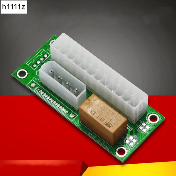 Newest ATX 24Pin to 4Pin Dual PSU Power Supply Sync Starter Extender Cable Card For BTC Miner Machine