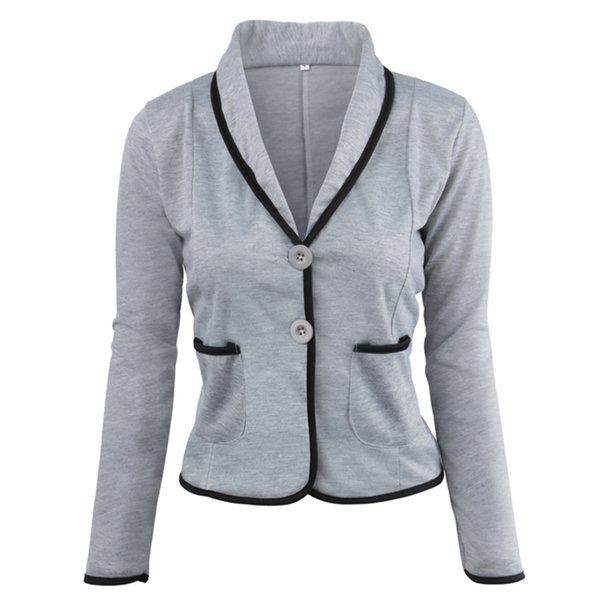 Ladies Blazers and Coats Thin Office Wear Plus Size Black Small Suit Bodycon Slim Short Blazer Jackets Women Coat Female S-6XL