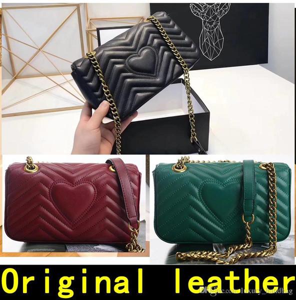 Çanta tasarımcısı yüksek kaliteli Lüks Çanta Ünlü Markaların çanta kadın çanta Gerçek Orijinal Dana Hakiki Deri zincir Omuz Çantaları