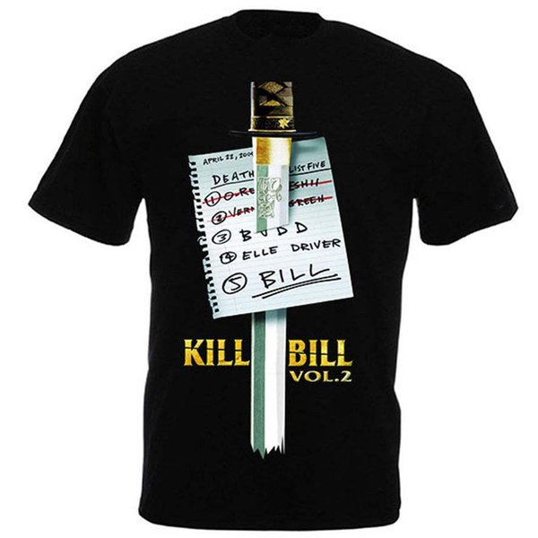 Kill Bill Vol 2 by Quentin Tarantino Uma Thurman movie t-shirt colour jurney Print free shipping t-shirt