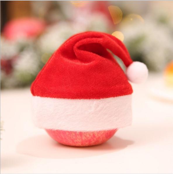 12pcs/Christmas hat gift bag candy bag christmas apple gift hat Christmas decorations apple box