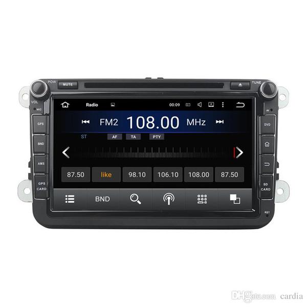 Auto-DVD-Player für Volkswagen Jetta Magotan Caddy 8 Zoll 2 GB RAM Andriod 6.0 mit GPS, Lenkradfernbedienung, Bluetooth, Radio