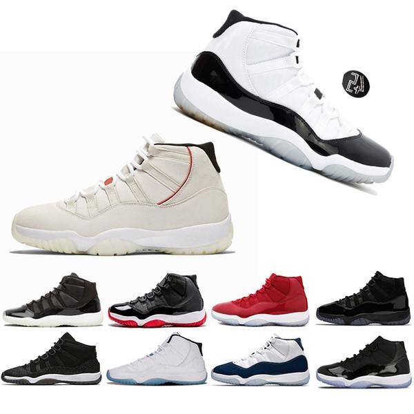 Nike Air Jordan 11 Retro AJ11 Vendita calda 11 Prom Night Cap and Gown Gym Red Space Jam Vinci come 96 per uomini 11s Scarpe da basket Athletic Sports Sneakers
