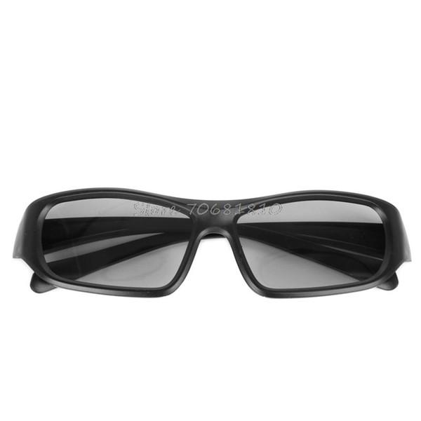 Circular Polarized Passive 3D Stereo Glasses Black RD3 For TV Real D 3D Cinemas Z07 Drop ship