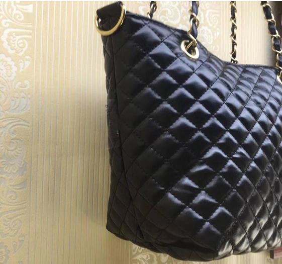2018 Классический стеганые цепи сумка Сумка мода PU 2 цвет логотип шаблон сумка