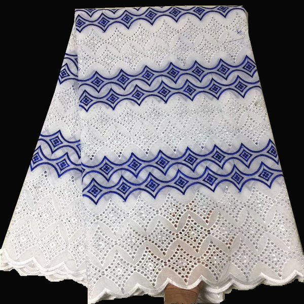 White cotton lace swiss voile lace embroidery fabric for dress african lace fabric high quality