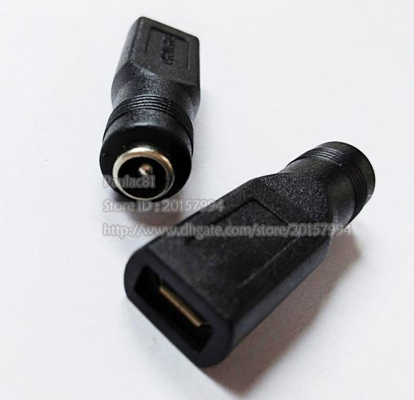 DC 5.5x2.1mm Female to USB Micro Female Power Adapter Plug Connector/Free Shipping/10PCS