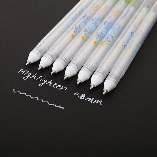 05mm Highlight Pen Sketch Markers White Paint Marker Pen Gel blanco para el diseño Comic Manga Painting Supplies Correction