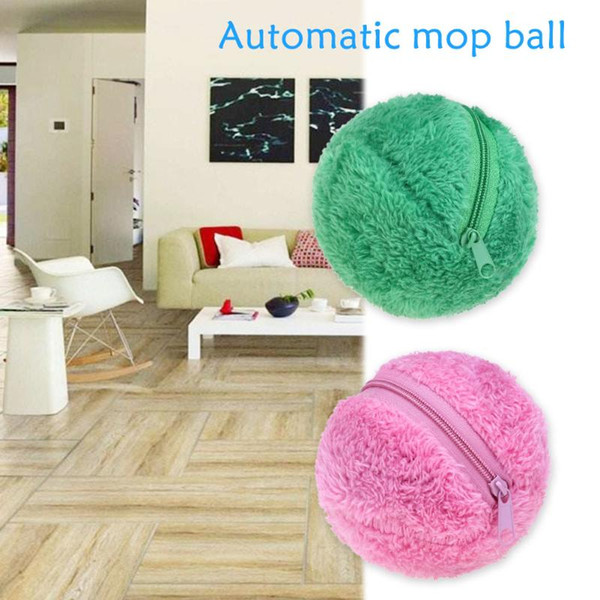 Free Shipping Mini Automatic Roll Ball Microfiber Vacuum Cleaner Floor Sweeper Mop Balls Household Cleaning Tools Cleaning Cloths