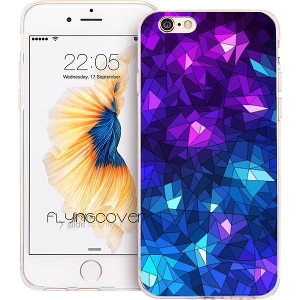 Fundas Blue Diamonds Clear TPU cubierta de silicona del teléfono para iPhone X 7 8 Plus 5S 5 SE 6 6S Plus 5C 4S 4 iPod Touch 6 5 casos.