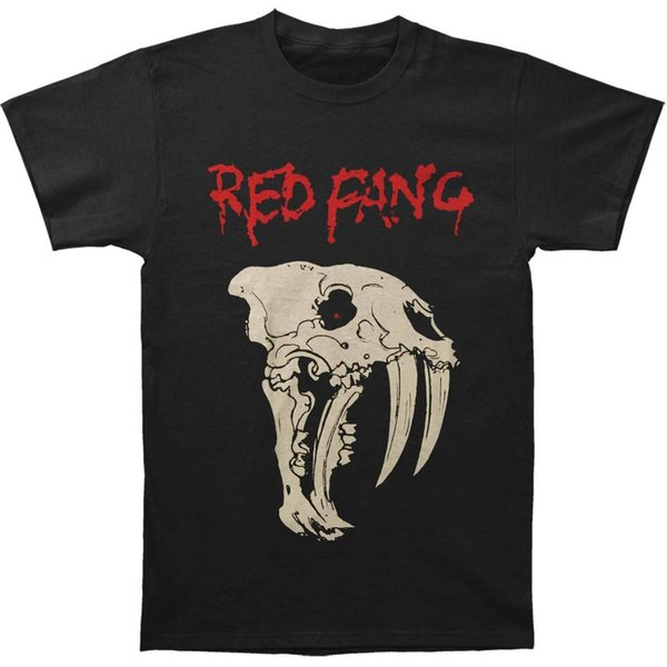 Red Fang Fang Black Brand Clothihng Top Quality Fashion Mens T Shirt 100% Cotton Basic Models