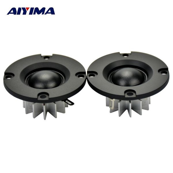 AIYIMA 2Pcs 2Inch Audio Portable Speakers HIFI Tweeter 50MM 6Ohm 25W Speaker ABS Frost Panel DIY Selvage Neodymium Speaker
