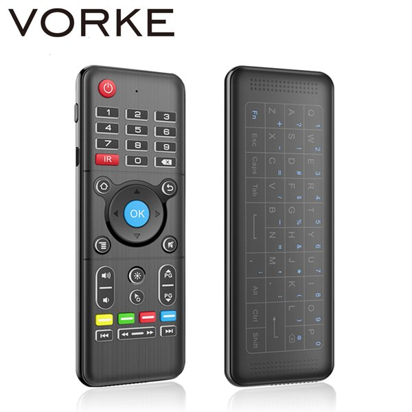Vorke H1 Full Touchpad 2.4GHz Wireless Keyboard 6-Axis Gyro 2.4GHz Air Mouse with Backlight for Andriod/Windows/Mac OS/Linux