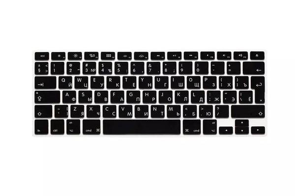 Russian Silicone Euro EU Keyboard Silicone keyboard cover for macbook Air Pro Retina 13 15 17 for mac book laptop Skin