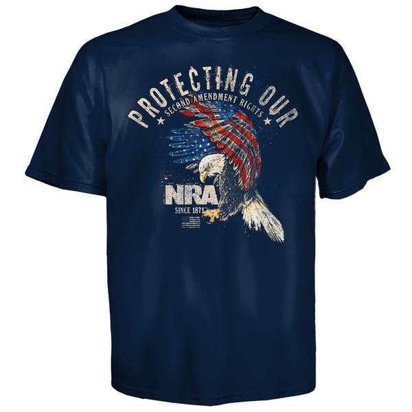 T-shirt Nra che protegge i nostri diritti di modifica National Rifle Association S - 3xl T Shirt Uomo Tees Brand Abbigliamento Divertente